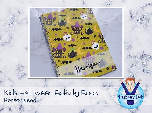 Younger Kids Halloween Activity Book
