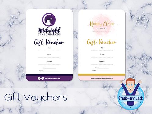 Gift Vouchers - Blank