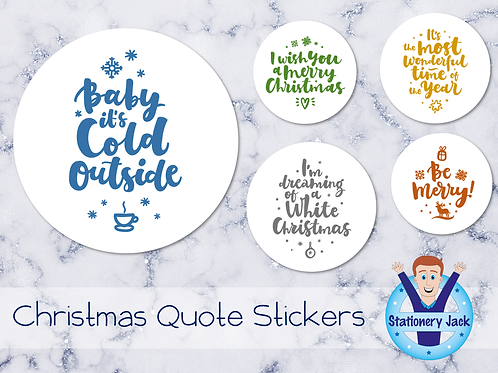 Christmas Quote Stickers