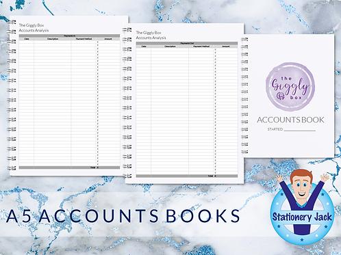 A5 Accounts Book