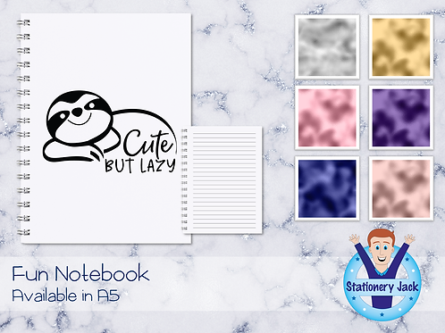 Cute But Lazy Notebook