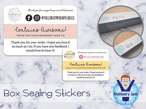 Box Sealing Stickers