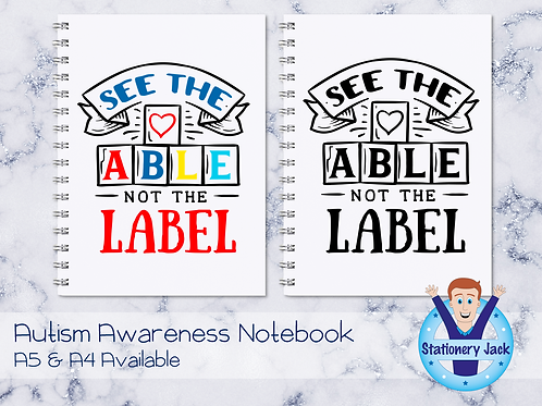 See The Able Not The Label Notebook