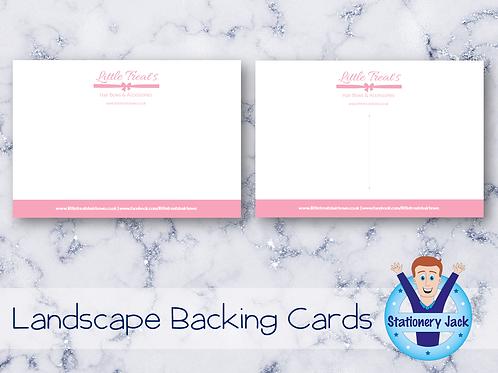 Backing Cards - Landscape