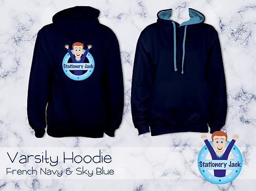 Varsity Hoodie - French Navy & Sky Blue