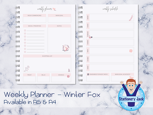 Winter Fox Personal Planner