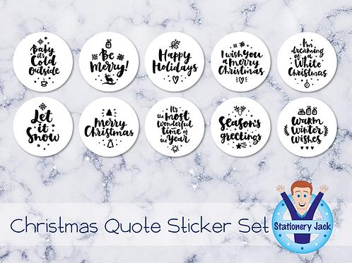 Christmas Quote Sticker Set