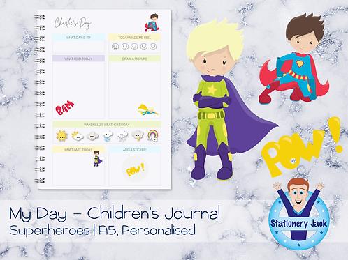 Superheroes Kids Journal