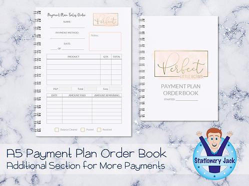 A5 Payment Plan Order Book
