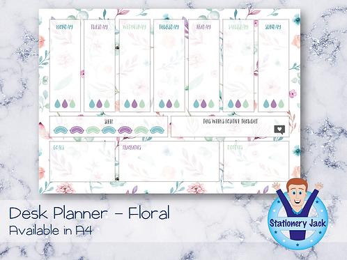 Floral Desk Planner