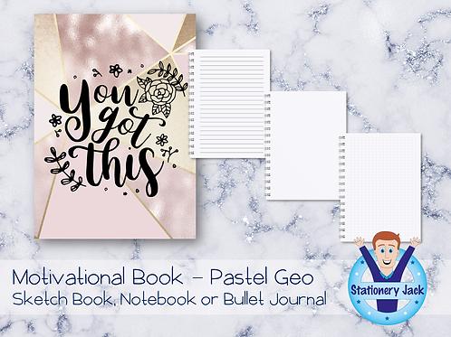 Motivational Book - Pastel Geo