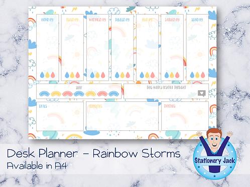Rainbow Storms Desk Planner