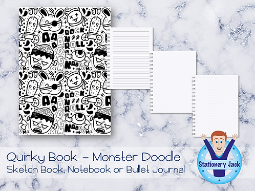 Quirky Book - Monster Doodles