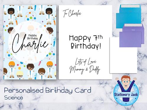 Birthday Card - Science