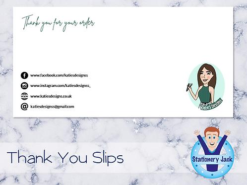 Thank You Slips