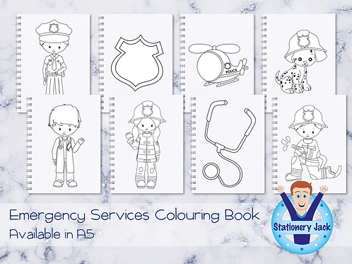 Emergency Services Colouring Book