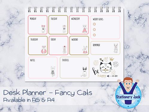 Fancy Cats Desk Planner