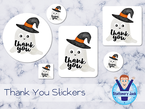 Ghost Thank You Stickers
