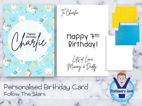 Birthday Card - Follow The Stars
