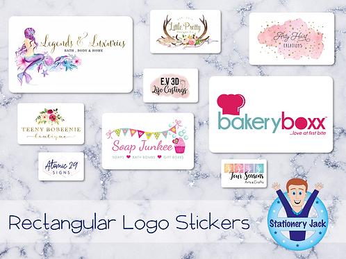 Rectangular Logo Stickers
