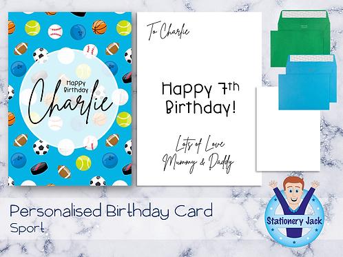 Birthday Card - Sport