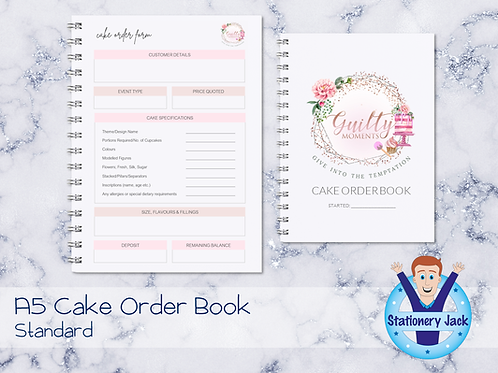 A5 Cake Order Book
