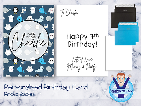 Birthday Card - Arctic Babies