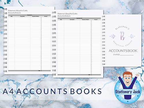 A4 Accounts Book