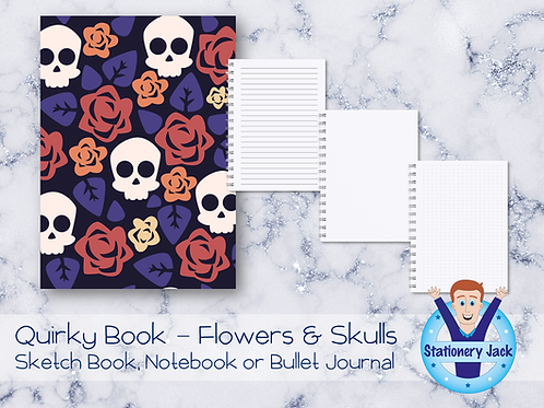Quirky Book - Flowers & Skulls