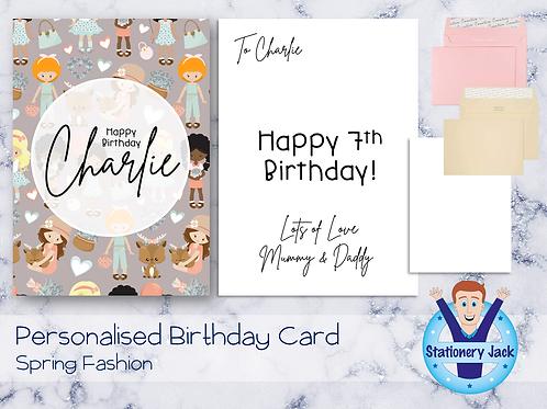 Birthday Card - Spring Fashion