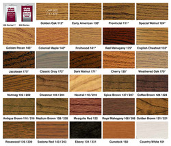 Duralseal Stain Color Chart