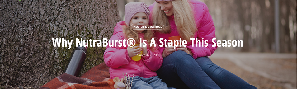 Why NutraBurst is a staple . . . LCT FUNDRAISER