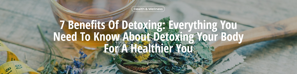 7 Benefits of Detoxing - LCT FUNDRAISER