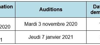 Calendrier 2nd semestre 2020
