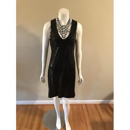 Karen Kane Black Short Sequin Cocktail Dress