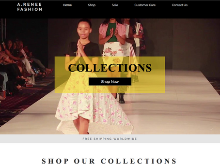 Web Design Spotlight: A.Renee Fashion