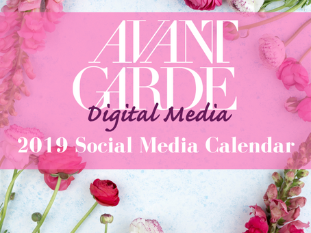 Download Your FREE 2019 Social Media Calendar!