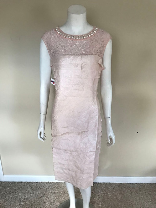 London Times Pink Cocktail Dress