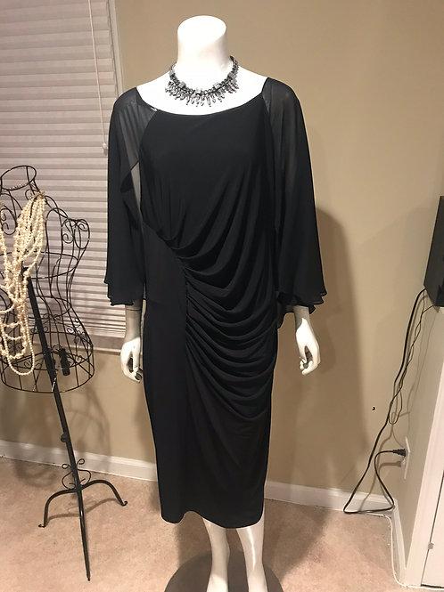 Calvin Klein Short Black Dress with Drape Back
