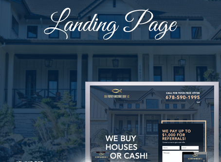 New! Landing Page Design