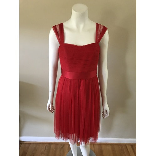 D. Bridal Red Toole Cocktail Dress