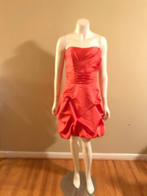 D. Bridal Orange Sweetheart Short Cocktail Dress