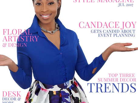 Client News: Candace Joy Graces the July Cover of Copa Style Magazine