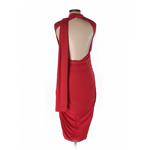 Avon Red Halter Neck Cocktail Dress