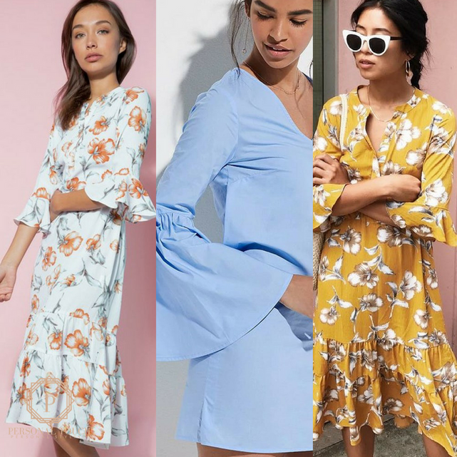 Fall Style Guide: Fluted-Sleeve Dresses
