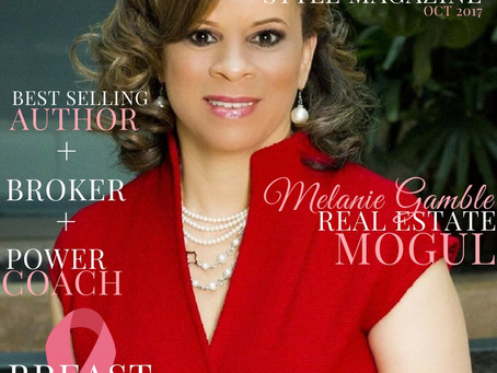 Melanie Gamble Graces the Cover of Copa Style Magazine for Breast Cancer Awareness Month