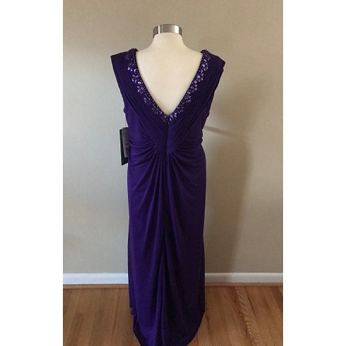 Scarlett Purple Long Evening Gown