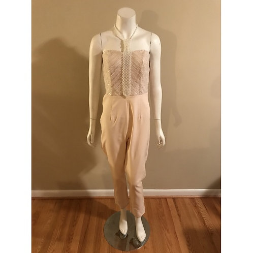 Soieblu Peach Strapless Jumpsuit with Sequin Top
