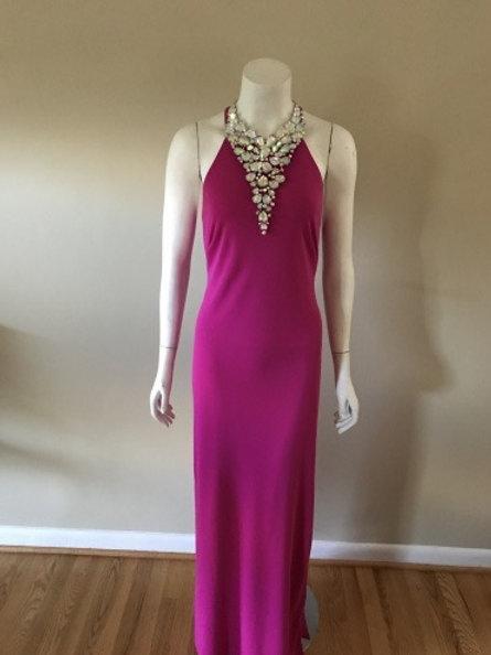 Ralph Lauren Pink Long Sleek Evening Gown Spaghetti Straps