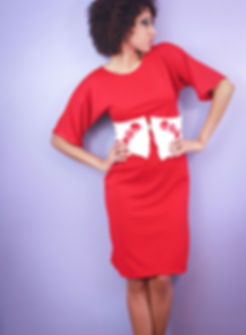 A. Renee Fashion Red Dolman Dress